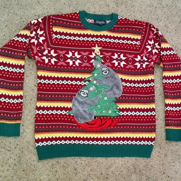 33 Degrees Sweaters Sloth Christmas Sweater Size Large Poshmark